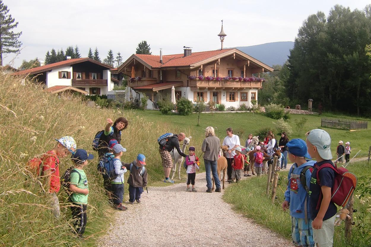 Alpakawanderungen sind bei jung und alt gleichermaßen beliebt.