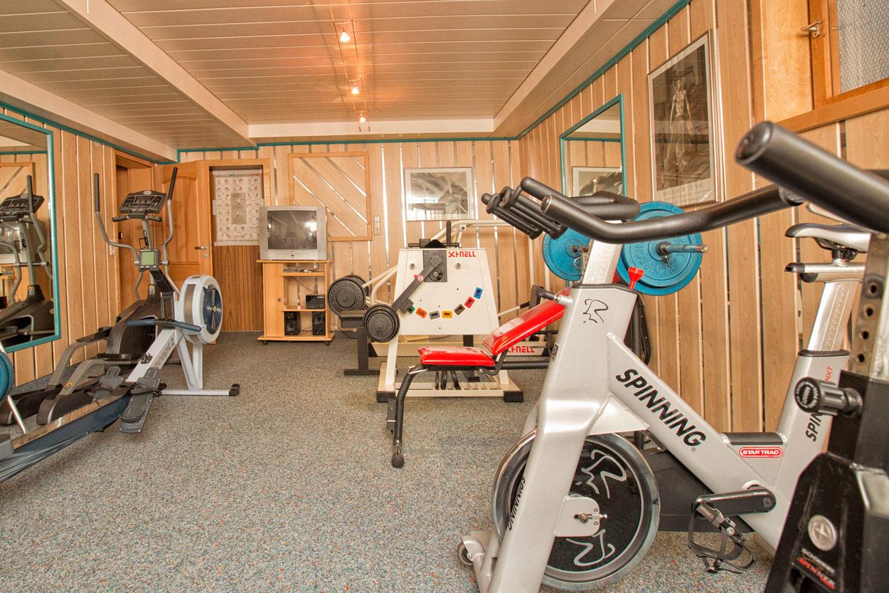 Der Fitness Raum in der Pension Restner