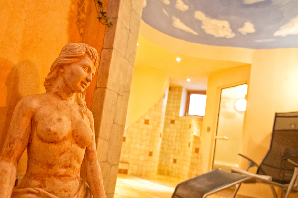 Der Wellness Bereich in der Pension Restner